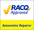 RACQ Approved Logo (smaller tick)